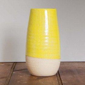 Stoke Yellow Vase