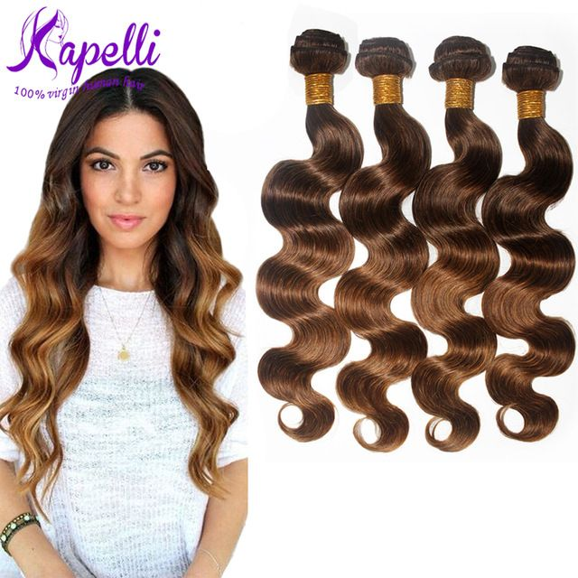 8A Brasilianische Reine Haarkörperwelle Ombre Haarverlängerungen 4 Teile/los Billig Brasilianische Haarwebart Bundles Weiche Ombre Menschliches Haar T4/30