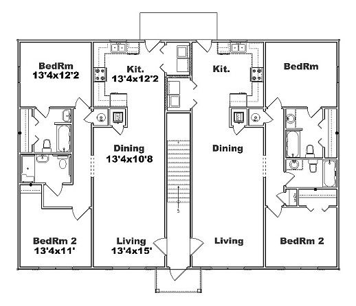 17 best images about floor plans on pinterest luxury for Fourplex plans with garage