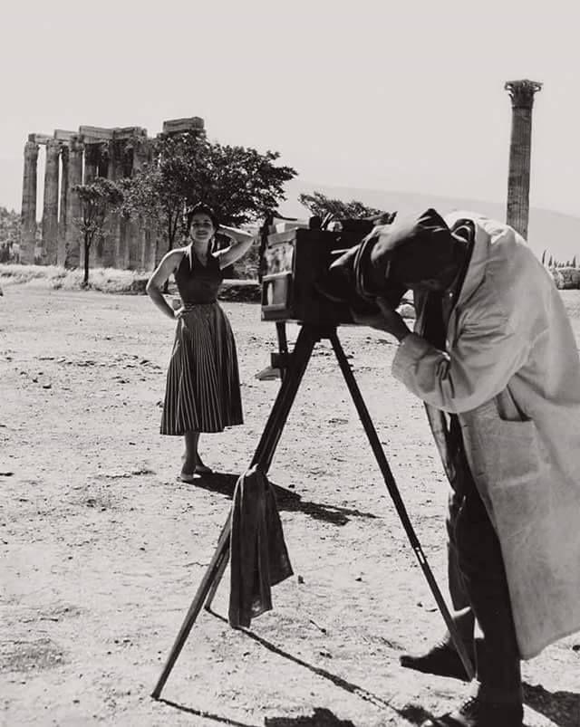 Elizabeth Juda Αθήνα Ναός Ολυμπίου Διός καλοκαίρι 1953