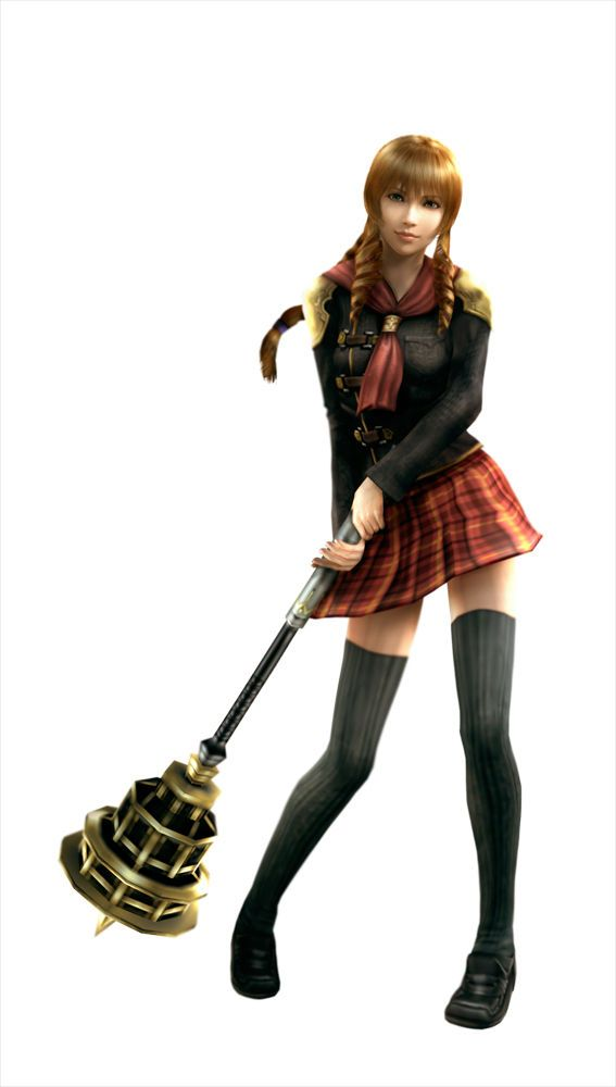 Final Fantasy Type 0 - Cinque and her honey comb wand. Lol