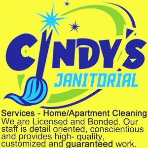 Home/Apartment Cleaning  We are Licensed and Bonded; staff is detail oriented, conscientious and provides high-quality, customized and guaranteed work. Cleaning services include but are not limited to vacuuming, dusting, carpet shampooing, floor stripping and floor waxing. Our affordable services are customized..We use green cleaning solutions. All CLEANING SUPPLIES AND EQUIPMENT ARE SUPPLIED BY US.  (903) 330-6524 www.cindysjanitorial.com  #cindysjanitorial #tylertexas #tyler #tylertx