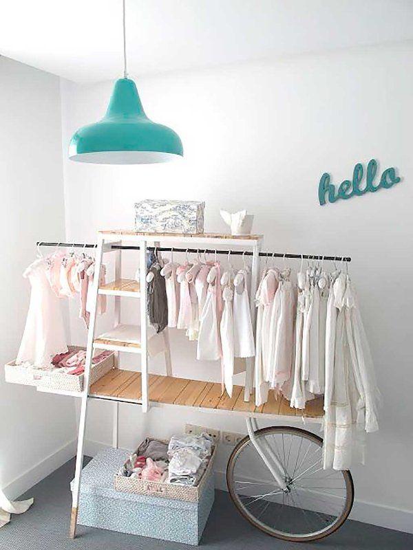 Ocho ideas creativas para sustituir el armario del bebé