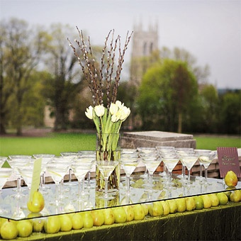 love the centerpiece and the apples under the glass