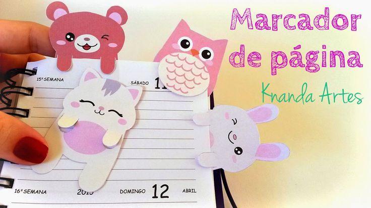 FREE printable bookmarks | Knanda Artes: DIY Bookmark - Passo a passo Marcador de página