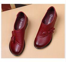 Весна Осень Мода Мокасины 100% Натуральная Кожа Обувь Одного Мягкие Вскользь Плоские Туфли Женщины Квартиры мать обувь(China (Mainland))