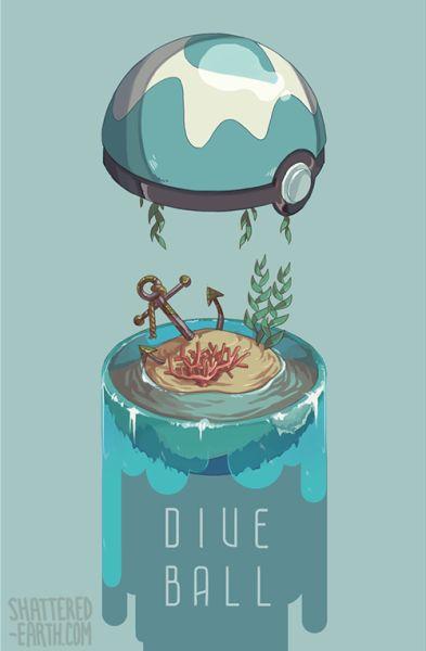 Dive Ball | Pokémon #illustration