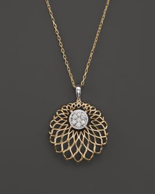 Diamond Pendant Necklace in 14K Yellow Gold, .20 ct. t.w. | Bloomingdale's