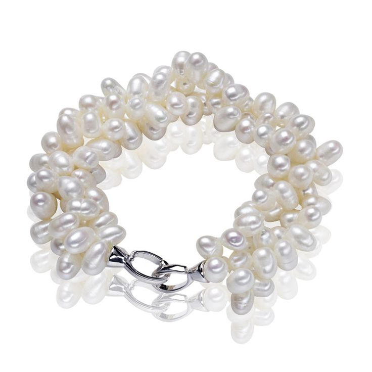 Natural Freshwater Pearl Bracelet     FREE Shipping Worldwide     http://fashjewels.de/genuine-pearl-beads-best-natural-freshwater-pearl-bracelet-100-925-sterling-silver-clasp-trendy-bangle-for-women-free-shipping/