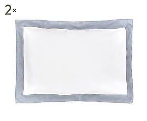 Coppia di federe in puro lino Alain grigio - 50x80 cm