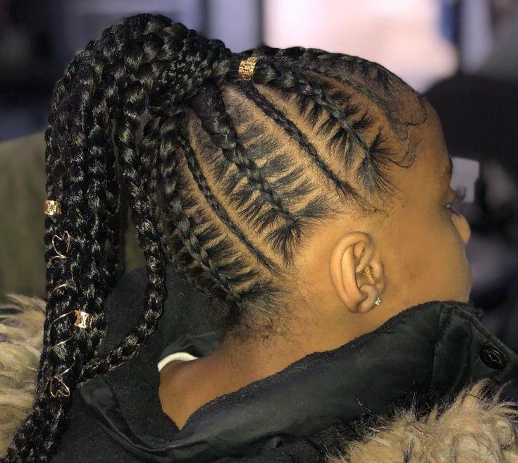 Nice braided pony via @theglamstudio313 - https://blackhairinformation.com/hairstyle-gallery/nice-braided-pony-via-theglamstudio313/