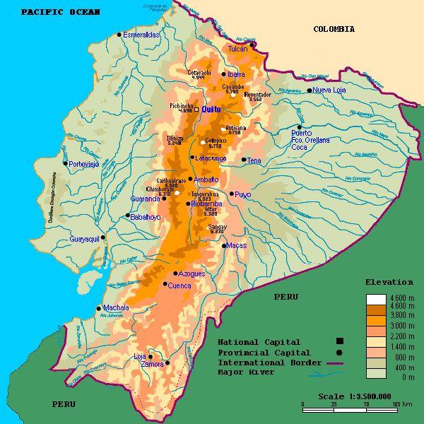 Mapa Del Ecuador Físico Político Turístico Provincias Y Capitales Ecuador Mapa Ecuador Ecuador Mitad Del Mundo