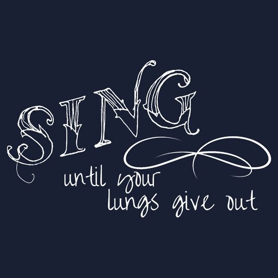 Fall out boy. Sing until your lungs give out.