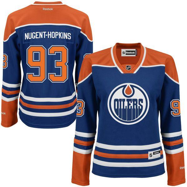 Ryan Nugent-Hopkins Edmonton Oilers Reebok Women's Home Premier Jersey - Royal - $103.99