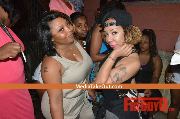 MTO EXCLUSIVE PICS: Tiny And Shekinah KEEP IT REAL . . . They Go TO THE HOOD . . . For A BIRTHDAY COOKOUT!!! (Ain't A DANG THING BOUGIE . .. About THIS Cookout)