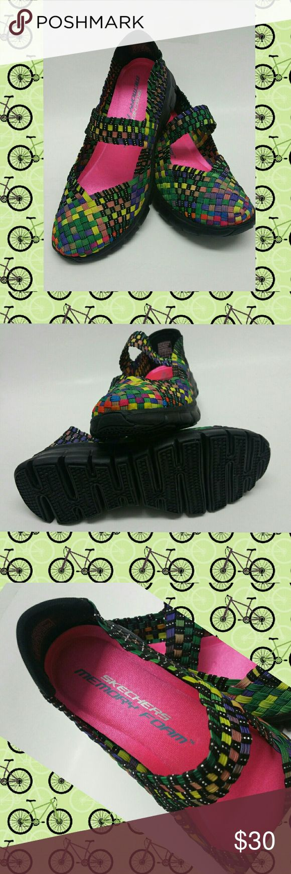 NWOB Sketchers Woven Mary Jane Sneakers, sz 7 As seen, without box or tags, Never Worn memory foam Sketchers sneakers. Skechers Shoes Sneakers