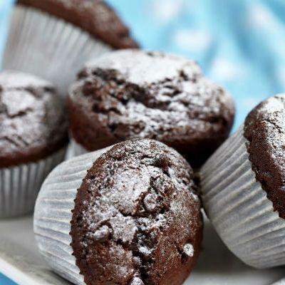 Duplacsokis, tejbegrízes muffin recept