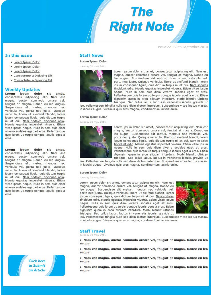Best Staff Newsletters Images On   Newsletter Ideas