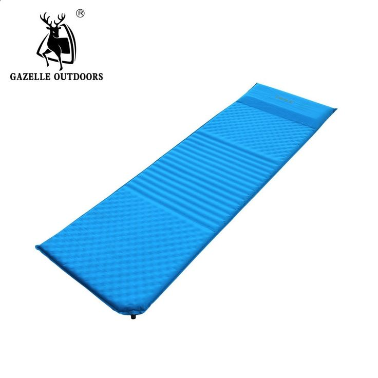 Camping Mats - 53.21$ Buy here - ai6qw.worlditems.... - GAZELLE OUTDOORS camping mat Moistureproof single automatic outdoor camping inflatable bed with pillow picnic mat comfortable