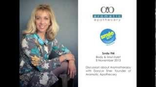 In this Body & Soul feature on Smile FM, Cape Town's premier talk and music radio station, Doryce Sher, founder of Aromatic Apothecary, chats about the origins of Aromatherapy, what the benefits are, and various applications of essential oils.