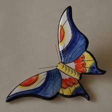mariposas de ceramica pintadas a mano - Buscar con Google