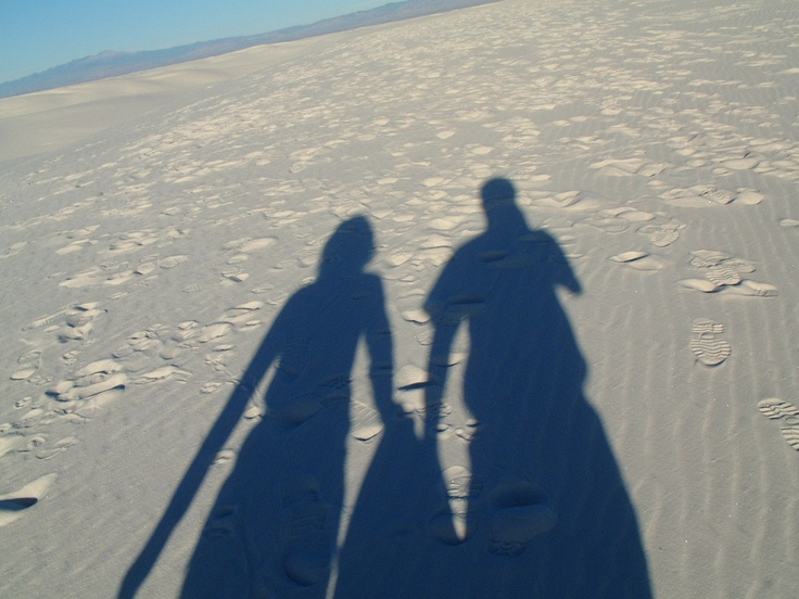 Inference: What are two things you can say about the the people who cast these shadows? What makes you think so?