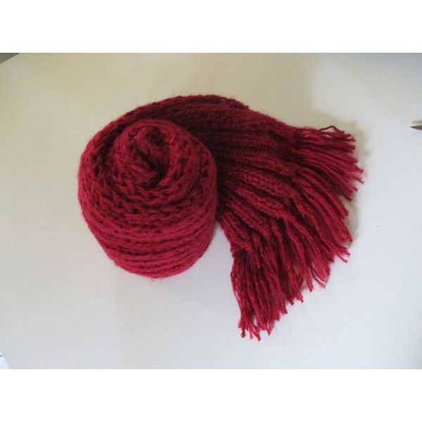 Scarf , unique handmade knitted scarf, wonem scarf, chunky texture, . ($32) ❤ liked on Polyvore featuring accessories, scarves and chunky scarves