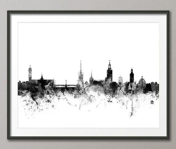 Stockholm Skyline Stockholm Sweden Cityscape Art Print by artPause