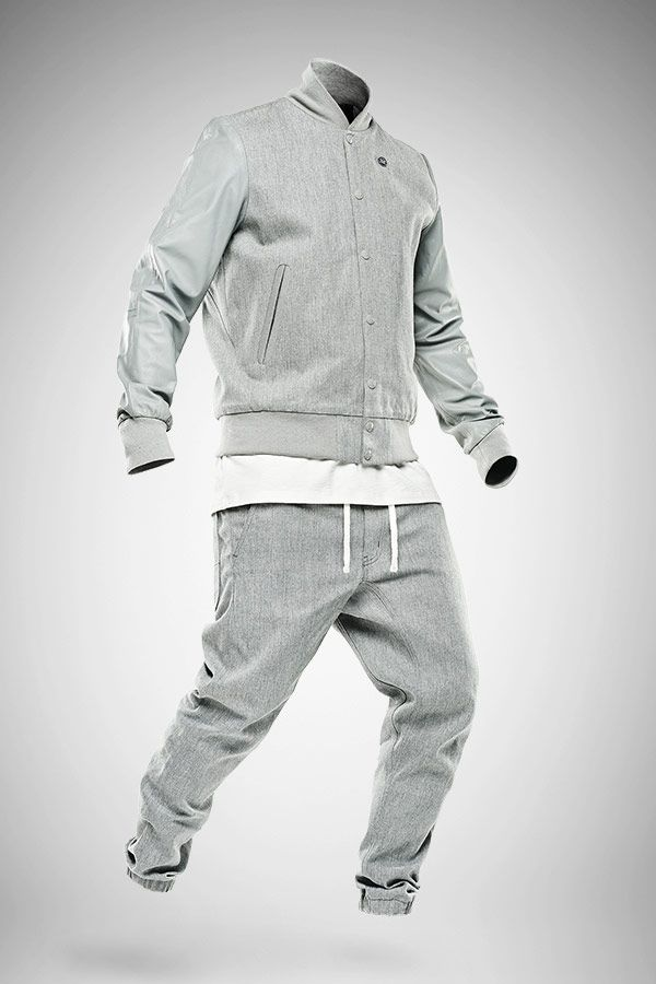 Marc Newson Premium Bomber and Denim Slim Jog Pants