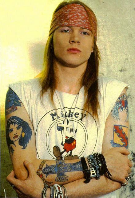 Headbands - The 80 Greatest '80s Fashion Trends | Complex. Axel Rose.