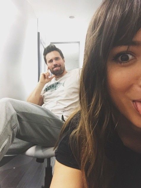 chloebennet4 In trailer lunch date with the great@imbrettdalton~ THAT HAIR