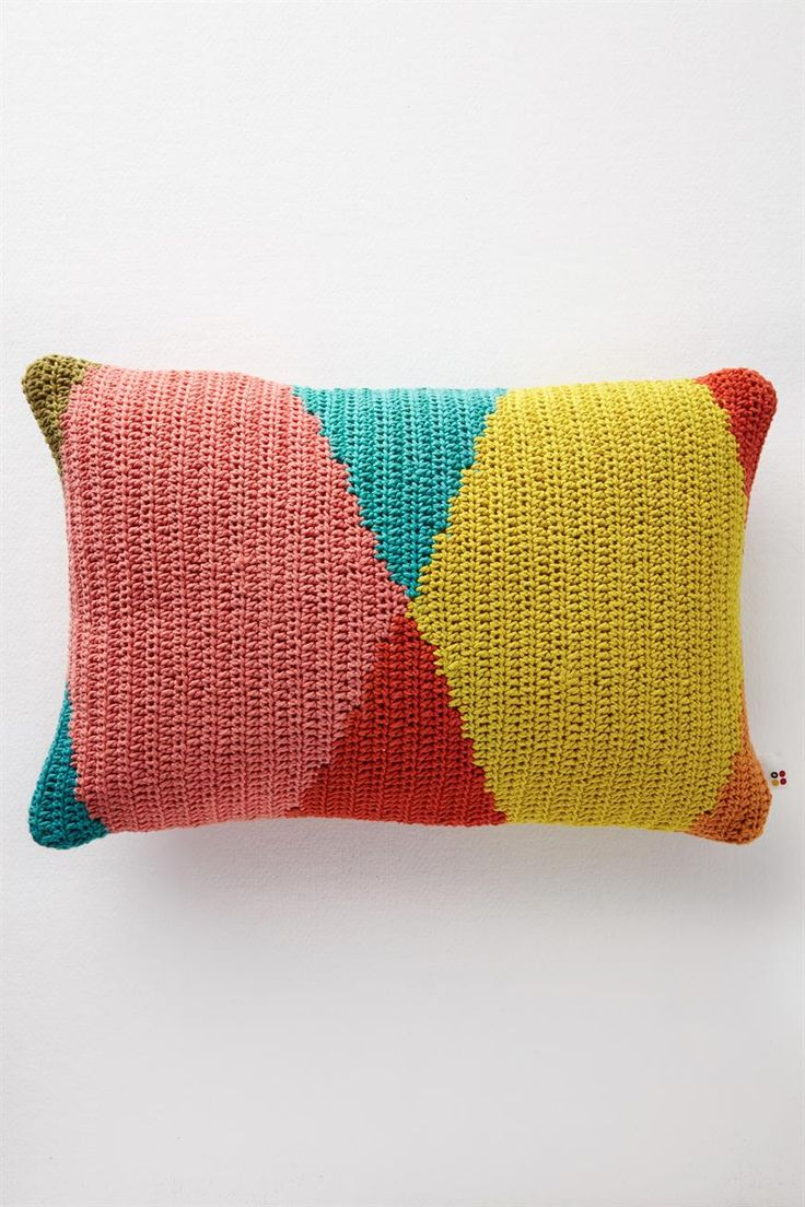 mt harlequin knitted cushion, MULTI