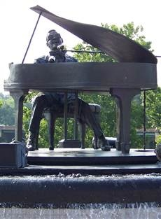 Ray Charles statue in Albany, Ga.  He was born in Albany, Ga.  They have music playing... very cool statue!