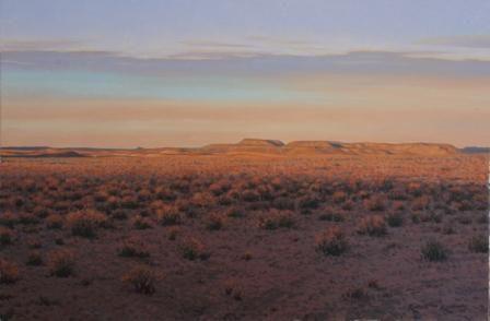 Last light  Oil on canvas by Robert Koch