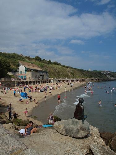 Sunny sands beach Folkestone