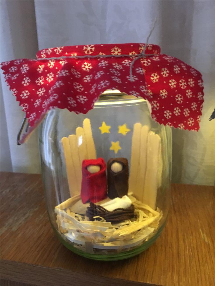 Krippe Im Glas Basteln Weihnachten Weihnachtsbasteln