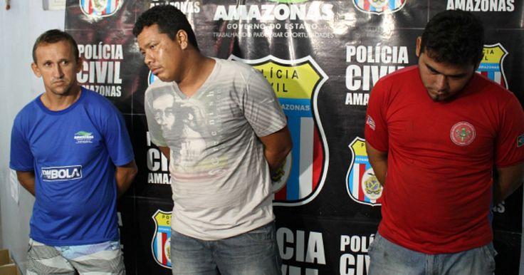 Trio é preso suspeito de fazer arrastão em pontos de ônibus em Manaus