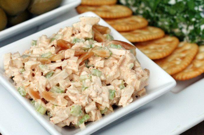 Chicken Almond Canape Spread: Chicken Salad, Spreadswap Mayonnai, Almonds Canapes, Spreads Swap Mayonnai, Canapes Spreads Swap, Canapes Spreadswap, Greek Yogurt, Chicken Almonds, Baby Showers