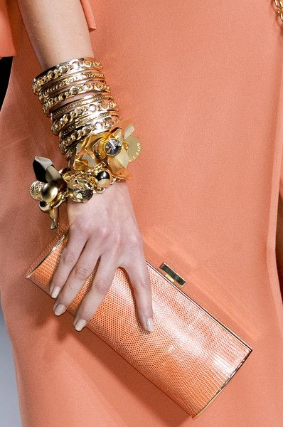 Elie Saab Spring: Orange, Fashion Weeks, Paris Fashion, Elie Saab Spring, Bracelets, Color, Ellie Will Be, Bangles, Spring 2011