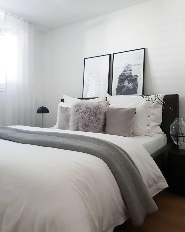 Schlafzimmer Schlafzimmerideen Bett Bettwasche Skandinavisch