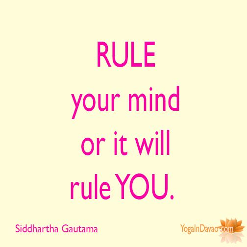 """Yoga in Davao Quote: """"Rule your mind..."""""""