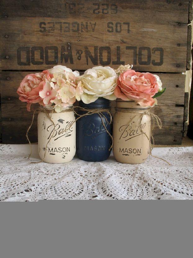 awesome 55 Gorgeous Rustic Vintage Wedding Centerpieces Ideas  https://viscawedding.com/2017/05/04/gorgeous-rustic-vintage-wedding-centerpieces-ideas/