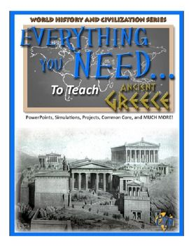 100% COMPLETE UNIT ON ANCIENT GREECE!! What's Included: • Teacher's guide with pacing suggestions • Essential questions that guide instruction • Primary source activities that meet Common Core standards • Interactive class activities with complete instructions • Course notes in Microsoft PowerPoint© format • And much more...