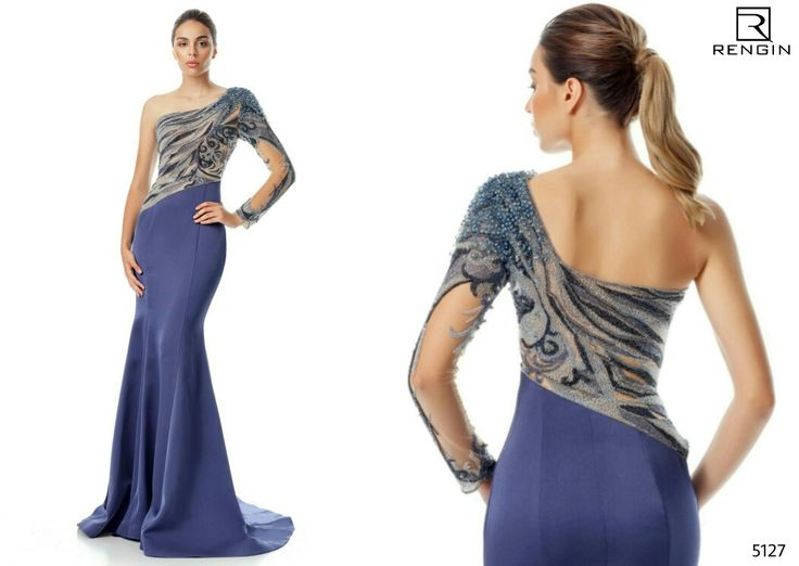 Her detayı tek tek elde işlenmiş elbisenizle göz kamaştırıcı bir etki yaratmak için... Rengin Collection; Dress: 5127 #eveningdress #coctaildress #promdress #abiye #fashion #style #dress #rengin #rengincollection  www.rengin.com.tr