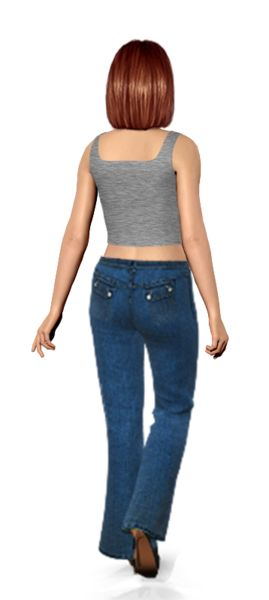 Check the flap pockets on my BUTT!! Amazing way to shop. I tried these jeans on my virtual model, then I shopped for them on eBay.