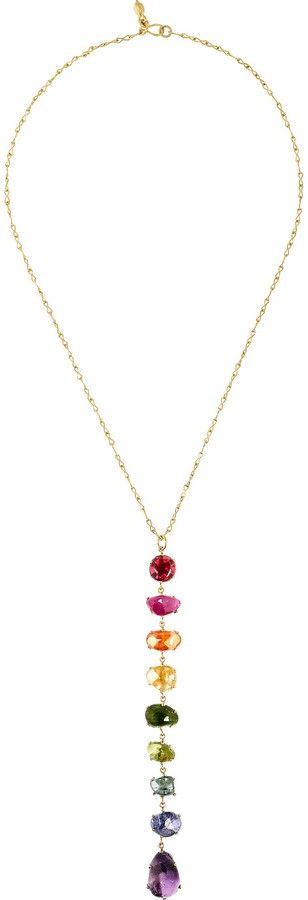 Pippa Small Rainbow 18K gold Multi Stone Necklace, Net-A-Porter, $5,455