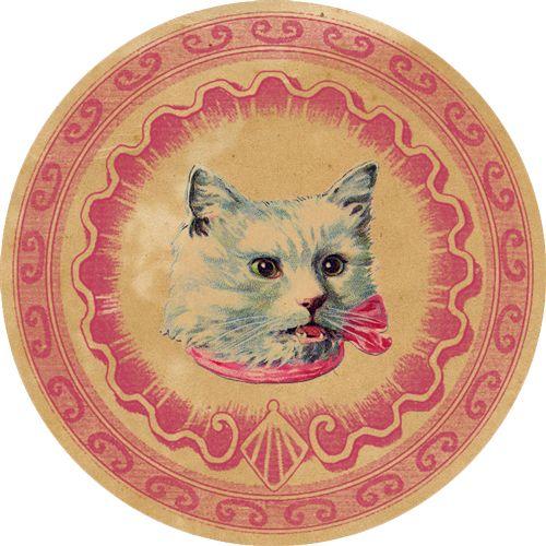 DGD - Digital Goodie Day - Vintage Kitten Sticker #5