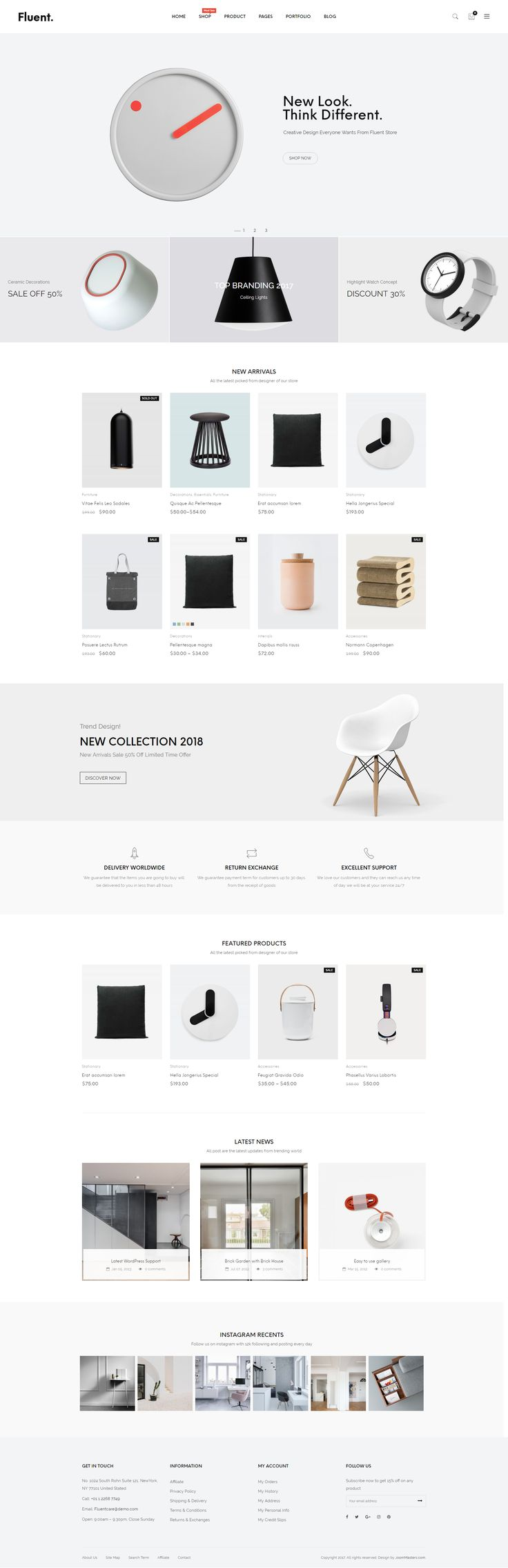JMS Fluent is #creative multi-purpose WordPress #theme with a minimal design, clean, and simple for creating your best online store. All these amazing features are blended together in JMS Fluent – your powerful, stylish and attractive responsive #WordPress theme. Make your business with our theme. We are sure that it will satisfy all your needs! #website #design