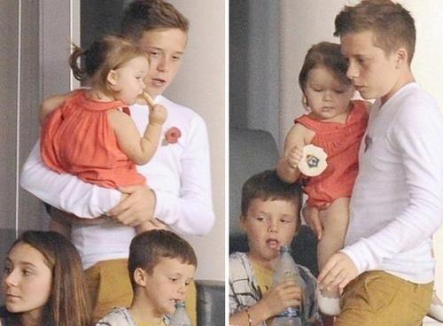 David Beckham's son Brooklyn....