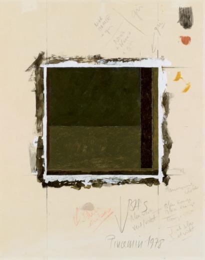 JEAN PIERRE PINCEMIN SANS TITRE, 1978 Huile et crayon sur papier Signé